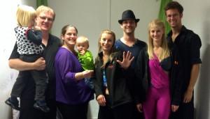 Manuel, Thorben, Nicole, Mika, Steffi, Tim, Katharina und Nick