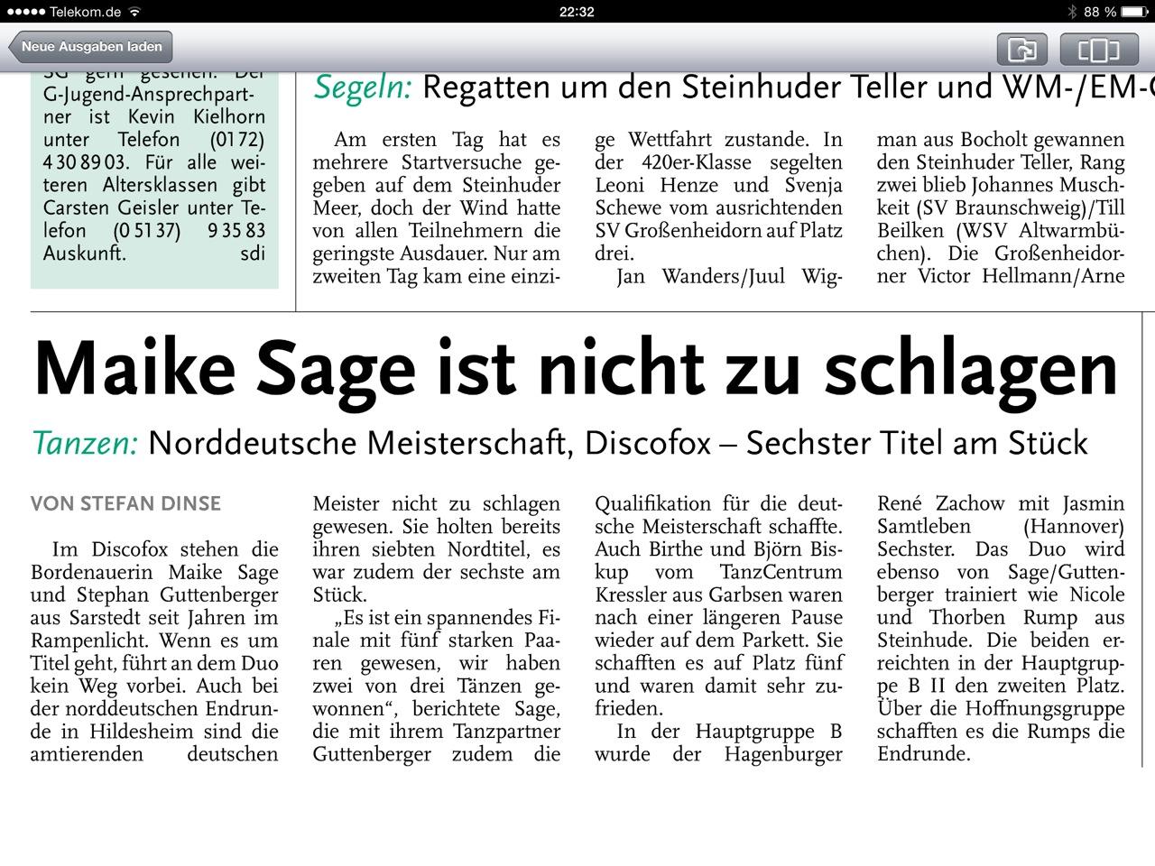 Norddeutsche Meisterschaft 2014